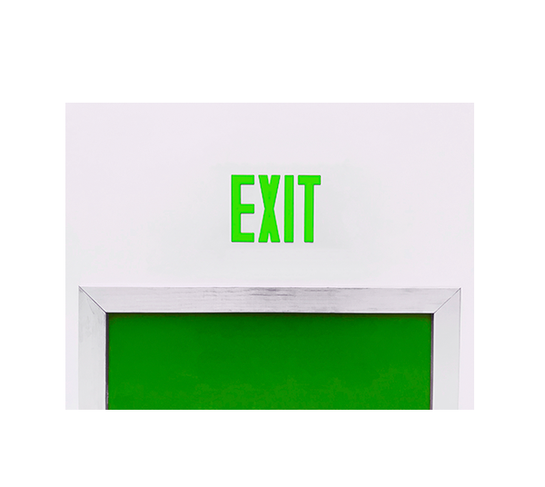 Concealed Exit Signs